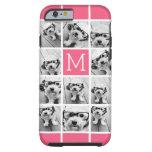 Hot Pink Instagram Photo Collage Custom Monogram Tough iPhone 6 Case