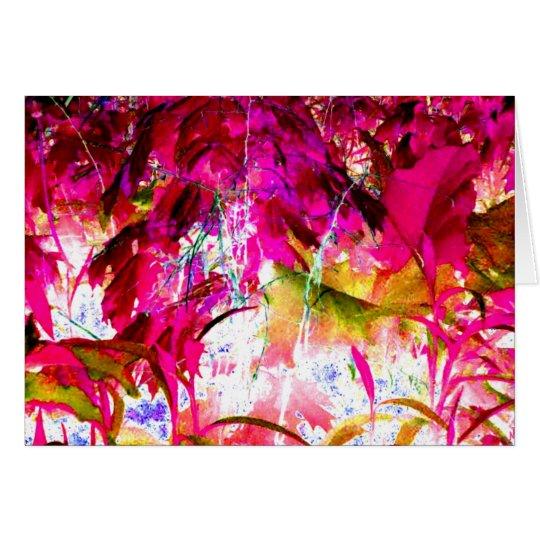 Hot Pink Jungle Art Photo Blank Inside Card
