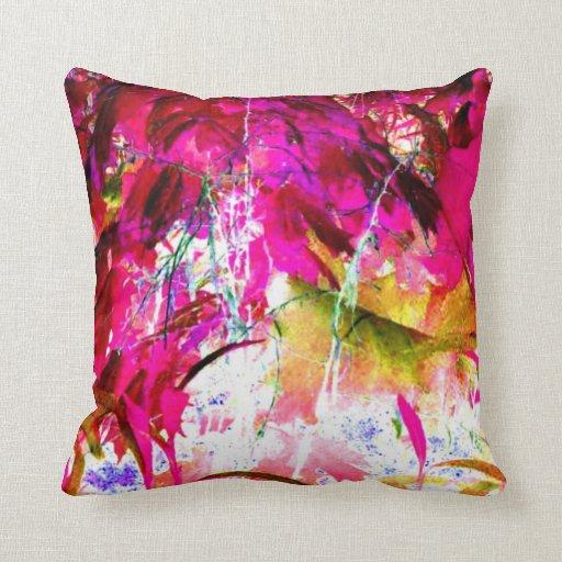 Hot Pink Jungle Art Photograph Throw Pillow