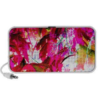 Hot Pink Jungle Garden Flowers Art Photograph Speaker