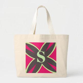 Hot Pink Kaleidoscope Jumbo Tote Bag