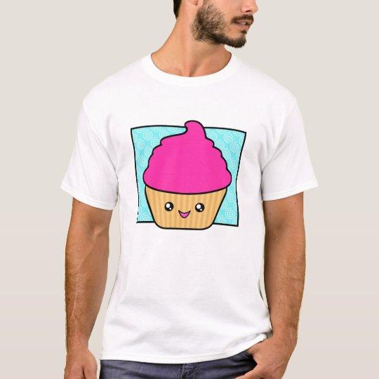 Hot Pink Kawaii Cupcake Apparel T-Shirt