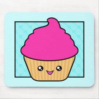Hot Pink Kawaii Cupcake Mouse Pad