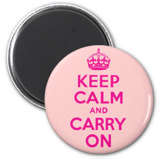 Hot Pink Keep Calm And Carry On Best Price 2 Inch Round Magnet