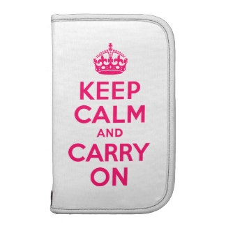 Hot Pink Keep Calm and Carry On Folio Planners