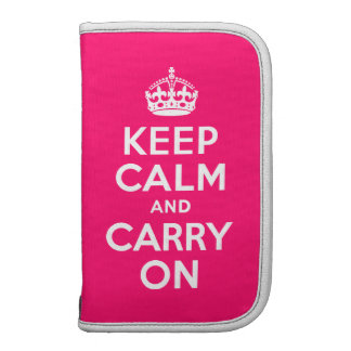 Hot Pink Keep Calm and Carry On Planners