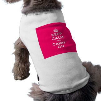 Hot Pink Keep Calm and Carry On T-Shirt