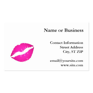 Hot Pink Kiss Double-Sided Standard Business Cards (Pack Of 100)