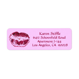 Hot Pink Kiss Label