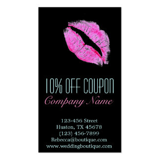 hot pink kiss Makeup Artist Business Double-Sided Standard Business Cards (Pack Of 100)