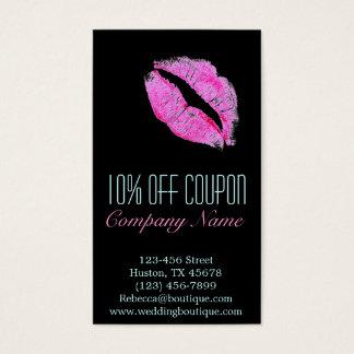 hot pink kiss Makeup Artist Business Business Card