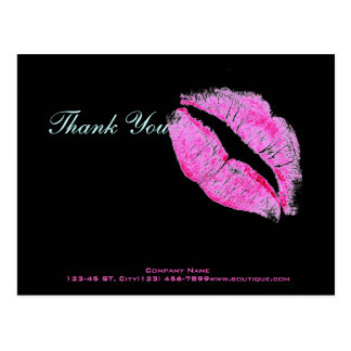 hot pink kiss Makeup Artist Business Postcard