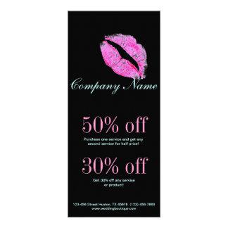 hot pink kiss Makeup Artist Business Rack Card