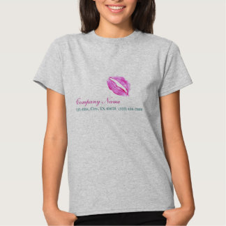 hot pink kiss Makeup Artist Business Shirts