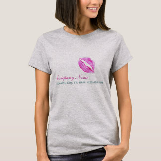 hot pink kiss Makeup Artist Business T-Shirt