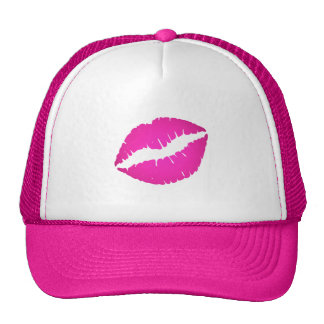 Hot Pink Kiss Trucker Hat