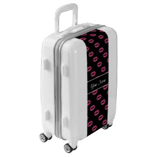 Hot Pink Kisses Luggage
