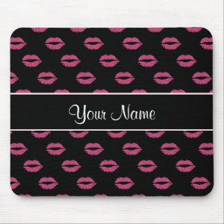 Hot Pink Kisses Mouse Pad