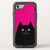 Hot Pink Kitty Cat OtterBox Defender iPhone 7 Case