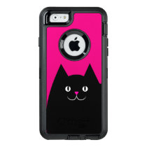 Hot Pink Kitty Cat OtterBox Defender iPhone Case
