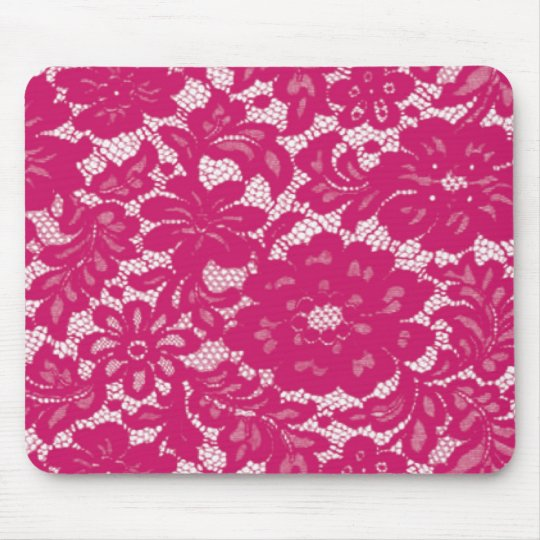 Hot Pink Lace Mouse Pad