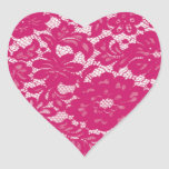 Hot pink lacy sticker