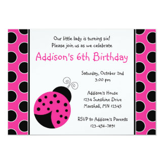 Ladybug Birthday Party Invitations Announcements Zazzle