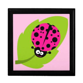 Hot Pink Ladybug Keepsake Box