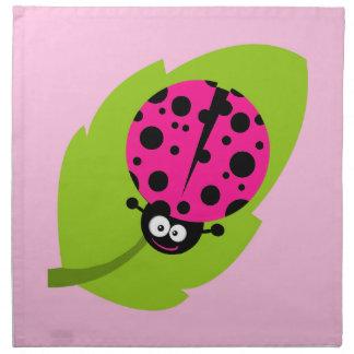 Hot Pink Ladybug Napkin