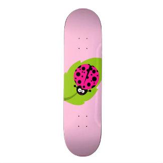 Hot Pink Ladybug Skateboard Deck