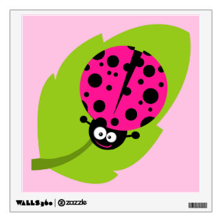 Hot Pink Ladybug Wall Skins