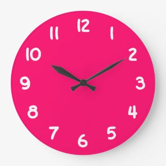 Hot Pink Large Clock