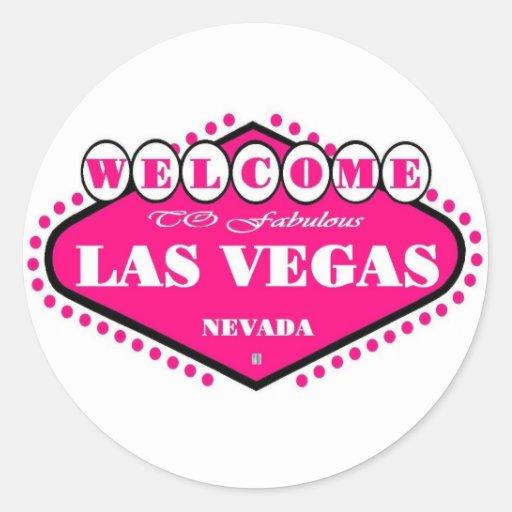 HOT Pink Las Vegas Logo Sticker