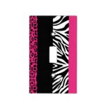 Hot Pink Leopard and Zebra Animal Print Switch Plate Covers