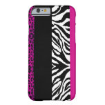 Hot Pink Leopard and Zebra Custom Animal iPhone 6 Case