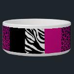 "Hot Pink Leopard and Zebra Custom Animal Print Bowl<br><div class=""desc"">Hot Pink Leopard and Zebra Custom Animal Print</div>"