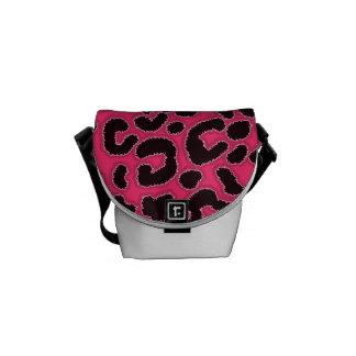 Hot Pink Leopard Animal Print Courier Bag