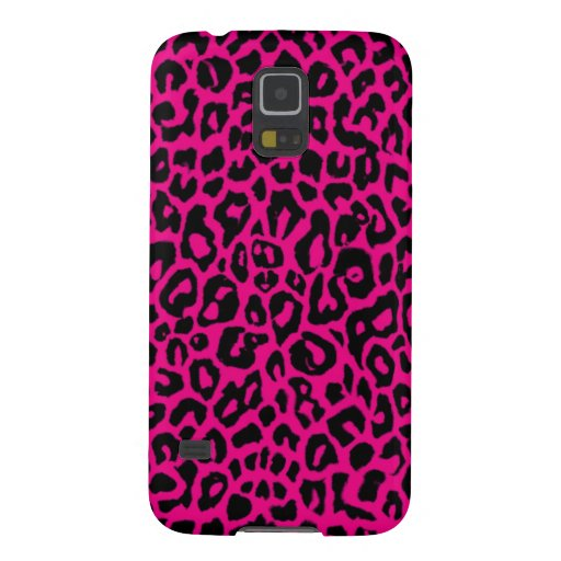 Hot Pink Leopard Animal Print Galaxy S5 Case