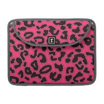 Hot Pink Leopard Animal Print Sleeve For MacBooks
