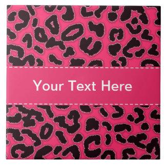 Hot Pink Leopard Animal Print Tiles