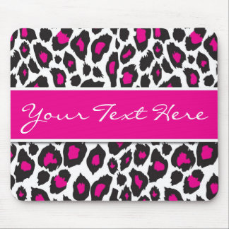 Hot Pink Leopard Mouse Pad