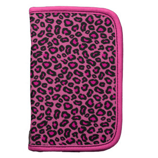 Hot Pink Leopard Folio Planners