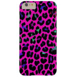 Hot Pink Leopard Print Barely There iPhone 6 Plus Case