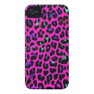 Hot Pink Leopard Print iPhone 4 Cases