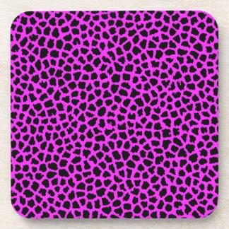 Hot Pink Leopard Print Coasters