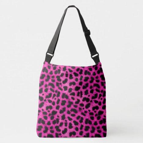 Hot Pink Leopard Print Crossbody Bag