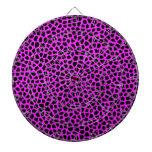 Hot Pink Leopard Print Dart Boards