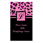 hot pink leopard print girly fashion pack of standard business cards