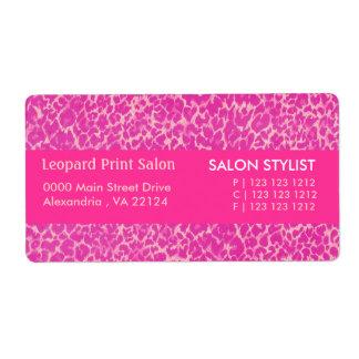Hot Pink Leopard  Print Label