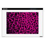 Hot Pink Leopard Print Laptop Skins